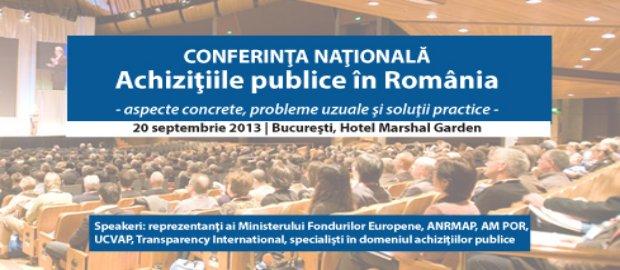 banner conf Achizitii publice in Romania