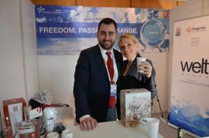 Stelian Burduhos, presedinte JCI Romania 2014 si Chiara Millani, presedinte JCI 2013