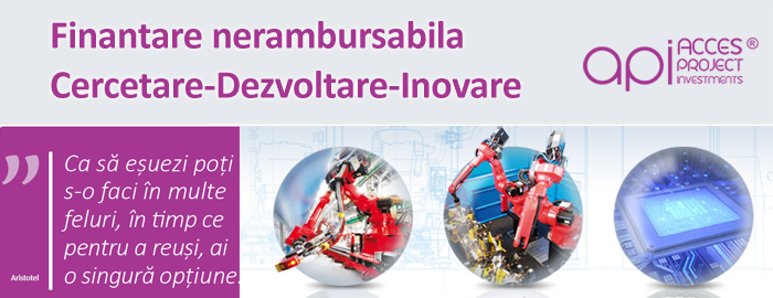 Finantare nerambursabila pentru activitatile de Cercetare-Dezvoltare-Inovare prin Programul Operational Competitivitate