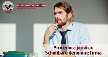 schimbare denumire firma Reinvent Consulting