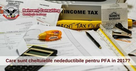 cheltuieli nedeductibile PFA Reinvent Consulting