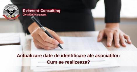 Actualizare date de identificare, Reinvent Consulting