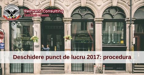 Deschidere punct de lucru 2017, Reinvent Consulting